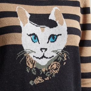 Teeberry & Weave Dresses - Modcloth Cat Well-Styled Feline Sweater Dress